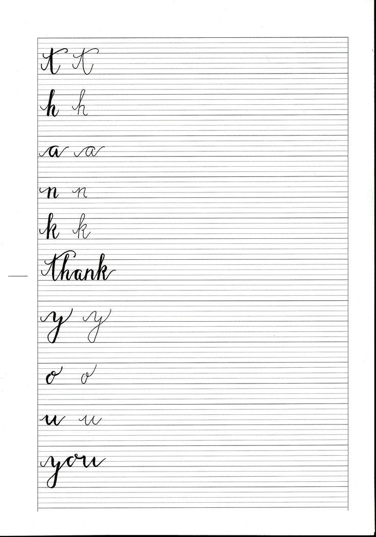 Arbeitsblätter Buchstaben Schreibschrift : Ideen zu schreibschrift Üben auf pinterest