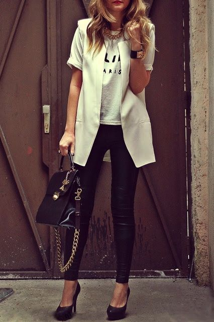 Black & white. Perfect white vest
