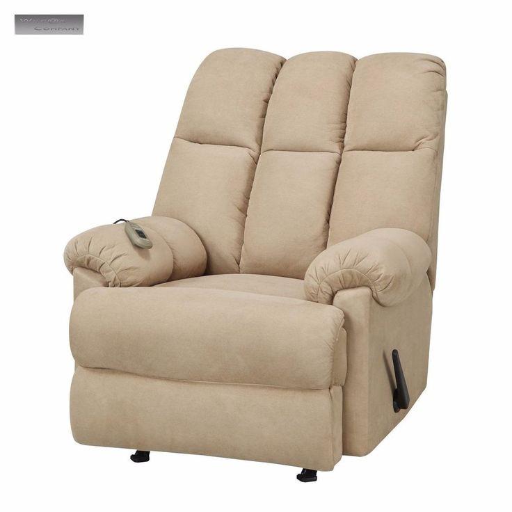 New Beige Padded Massage Rocker Recliner Microfiber Lazy Boy Electric Seat  Chair | EBay Http: