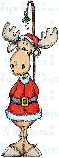 Mooseletoe - Christmas Images - Christmas - Rubber Stamps