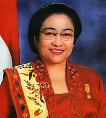 President Megawati Sukarnoputri - Indonesia.jpg    Megawati has been Indonesia's only female president and the fourth woman to lead a predominantly Muslim nation. She is also the first Indonesian leader to be born after Indonesia proclaimed independence.