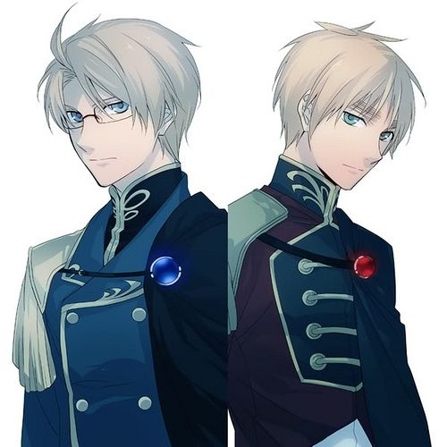Alfred F. Jones & Arthur Kirkland by AzumiOctania25<<I couldn't help but post this these outfits are so shARP OMG