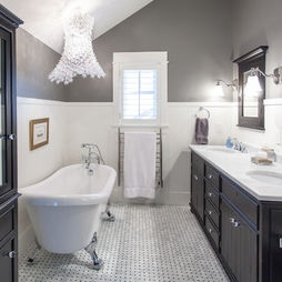 gray white black Bathroom Gray Walls Design, Pictures, Remodel, Decor and Ideas - page 2