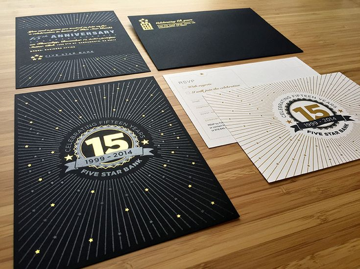 Five Star Bank 15 Year Anniversary Invitation Package