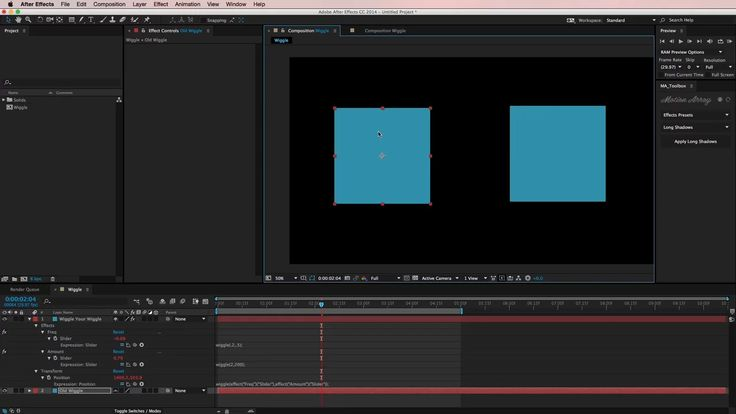 In this After Effects tutorial, you'll learn a couple of simple tricks for using the wiggle expression.  The first trick enables you to control the wiggle…