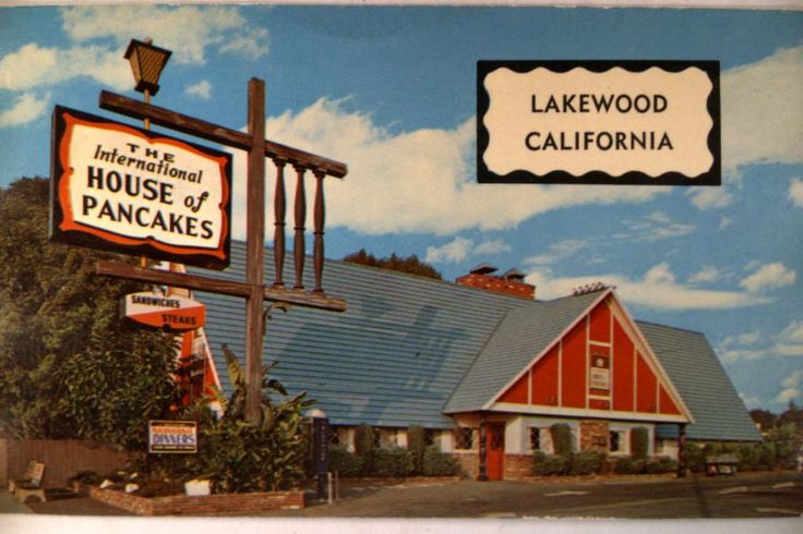 When it was still called The International House of Pancakes (or just the Pancake House for short) - we didn't call it IHOP yet, and so many of them had those great A-frame blue-roof buildings - 1958
