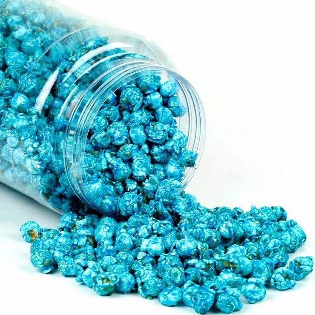 Blue Caramel Popcorn - Blue Raspberry