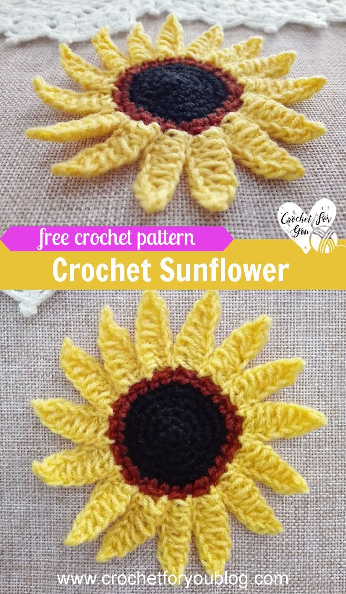 Crochet Sunflower Free Pattern Free Crochet Patterns Crochet