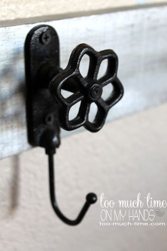Kids Organization: DIY Rustic Industrial wall Hooks