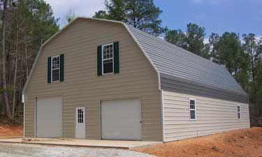 Metal barns buildings gambrel barns small and large for Gambrel roof pole barn kits