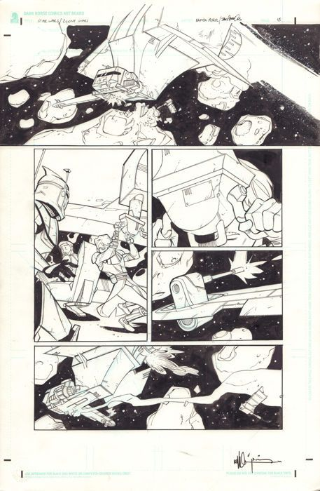 Ramon K. Perez & Dan Parsons - Original Art Page - Star Wars : Clone Wars #2 - Page 13 - Dark Horse Comics - Signed - (2003) - W.B.
