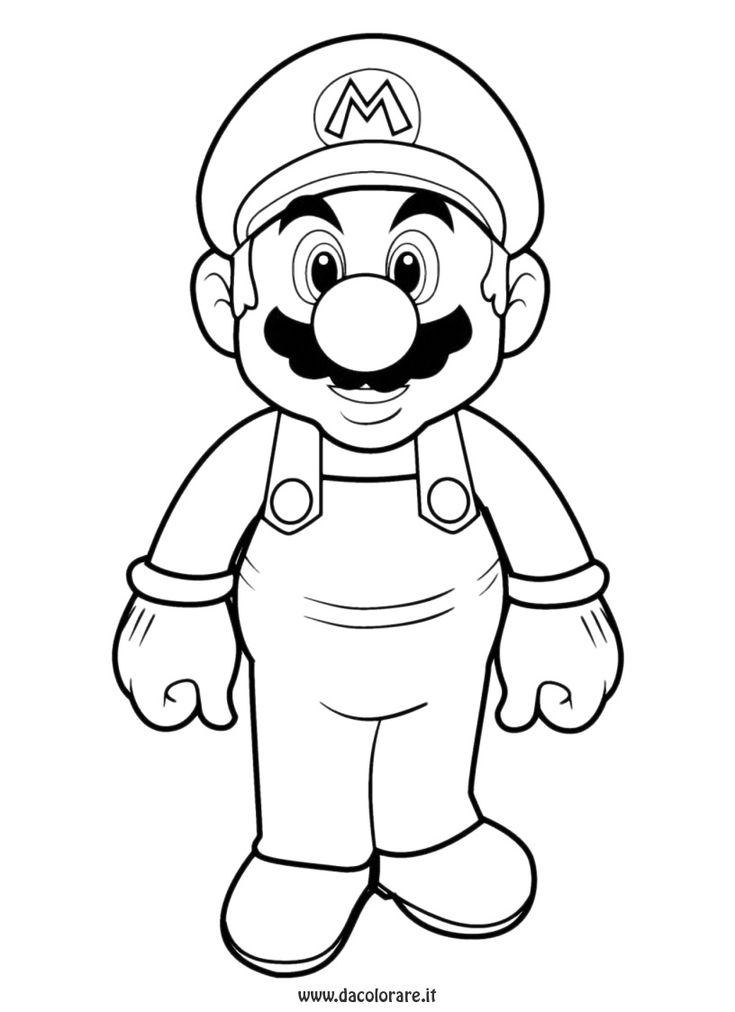 Coloriage à imprimer : Personnages célèbres - Nintendo - Super Mario numéro 3311