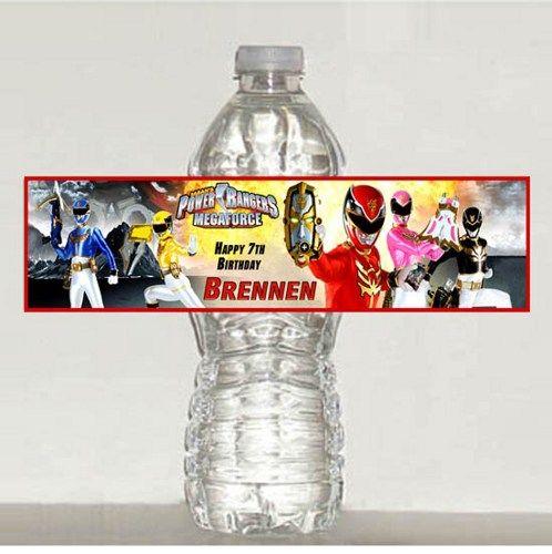 Power Ranger Water Bottle Labels Printable Shops