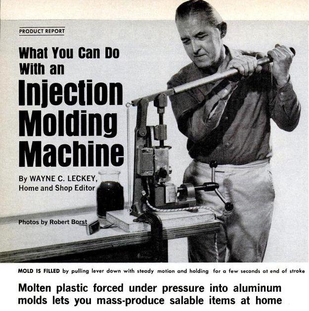Article on Home Injection Molding - Popular Mechanics September 1970
