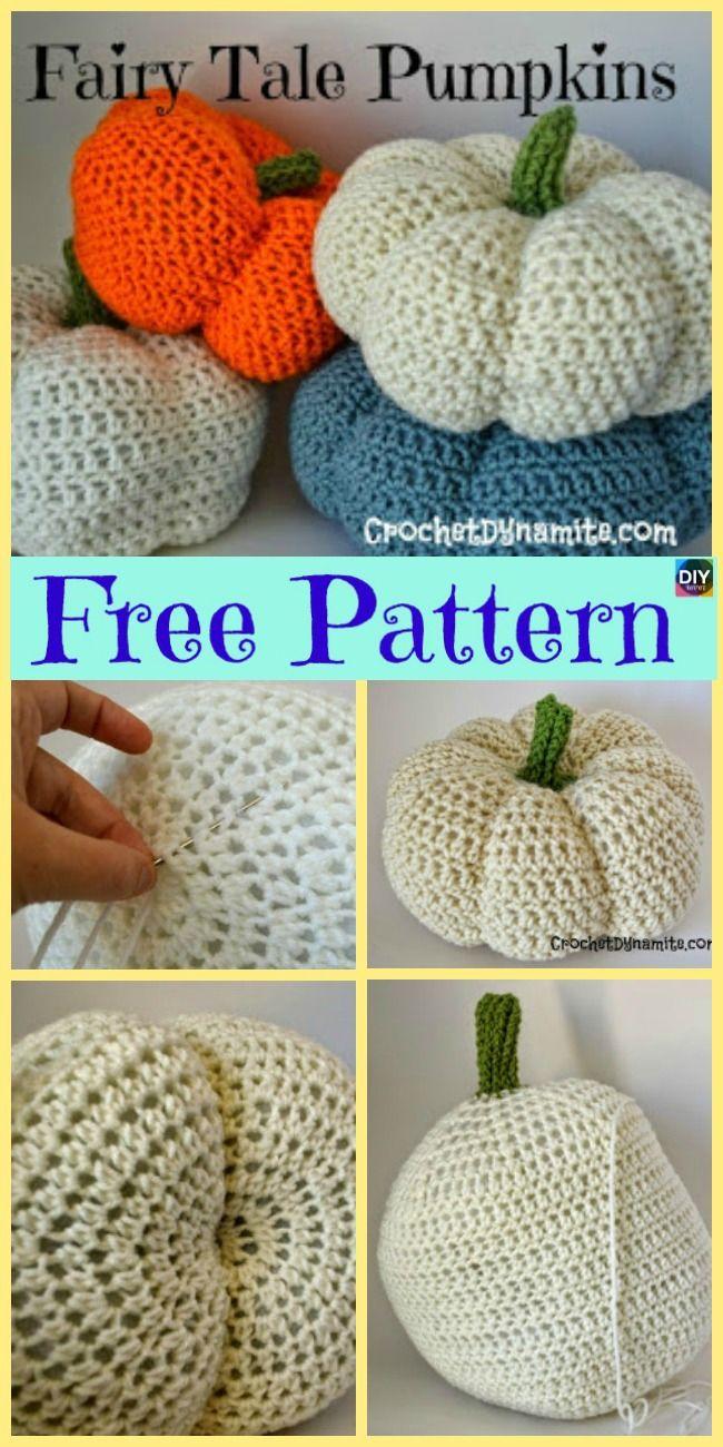 10+ Adorable Crochet Pumpkins - Free Patterns   crochet / knit ...