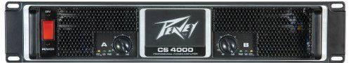 Peavey CS4000 Power Amplifier by Peavey. $857.95. Building on the reputation of the world-famous Peavey CS® 800, which conquered the power amp market in the 1970s, the CS® Series is the global standard bearer for workhorse reliability. Over the years, these amps have benefited from some of Peavey's most popular audio innovations, including our exclusive DDT™ compression/anti-clipping protection. With its 2 RU design and power points up to 4080 watts, this latest evolution o...