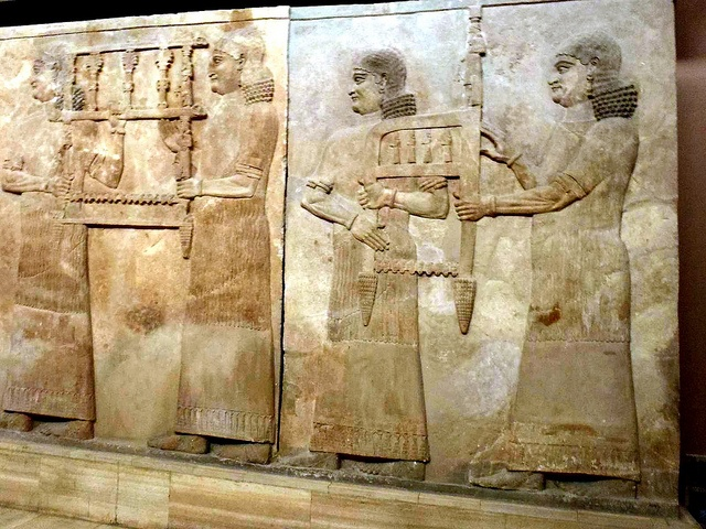 An amazing Assyrian Relief at the Iraqi National Museum