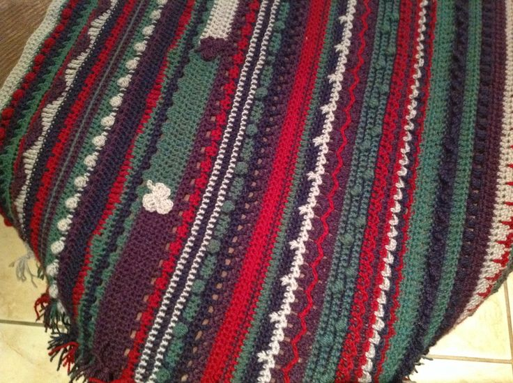 Every row a different stitch.