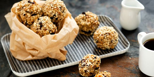 Coconut and date #blissballs with chia and tahini. #vegan #paleo