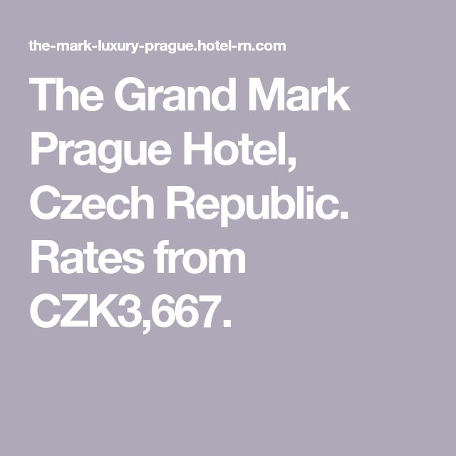 The Grand Mark Prague Hotel, Czech Republic. Rates from CZK3,667.