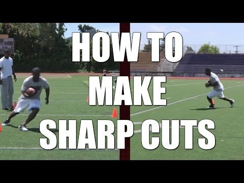 Football Drills: How To Make Running Back Sharp Cuts | Youth Sports Fans