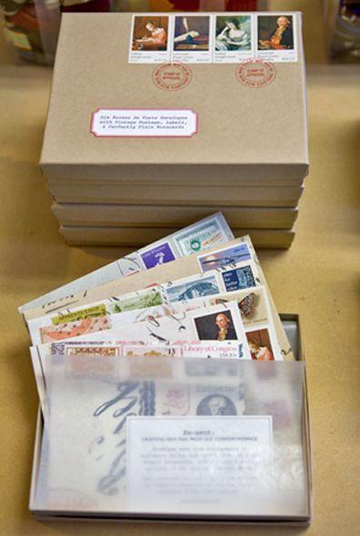 Amazing site full of free vintage printables. (Vintage labels, address labels, letterhead, etc.)