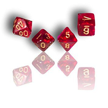 Custom & Unique {Assorted Sizes} 7 Ct Pack Set of [D4, D6, D8, D10, D12, D20] Opaque Playing & Game Dice w/ Vibrant Glittery Borealis Design for Role Playing RPG Dungeon & Dragon [Pink & Yellow]
