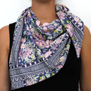organic cotton knit scarf - blossoms