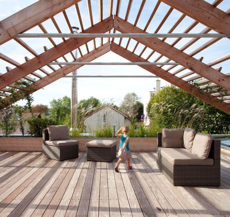 Amazing Eco Sustainable House By Djuric Tardio Architectes. Rooftop GardensRooftop  TerraceRoof ...