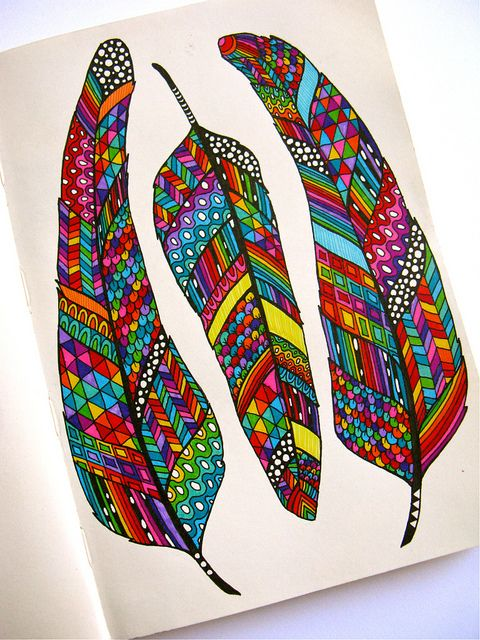 Colourful doodle by Angel Van Dam (Hello Angel Design)