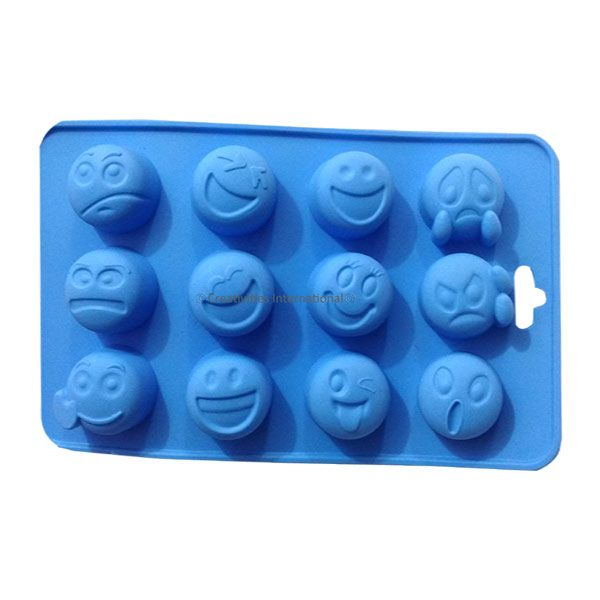 Whatsapp Smiley Silicone Chocolate Mold by Creativities International is designed for making chocolates easily. They are made up of 100% high quality food grade silicone material.  Silicone molds are easy to use, store and clean, non-stick, very flexible and freezer safe.  Dimension (l*b*h) cm : Mould Size :19.5 cm*12 cm Cavity Size : 3 cm*3 cm*1.5 cm  Inclusive of : 1 pc