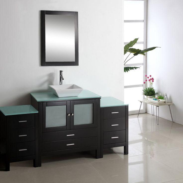 Virtu USA Brentford 71 in. Single Bathroom Vanity - MS-4471-S-ES-001