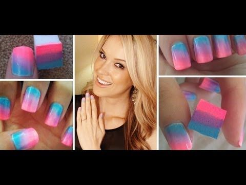 How To ♥ ONE Step Ombre Nails!!! - YouTube