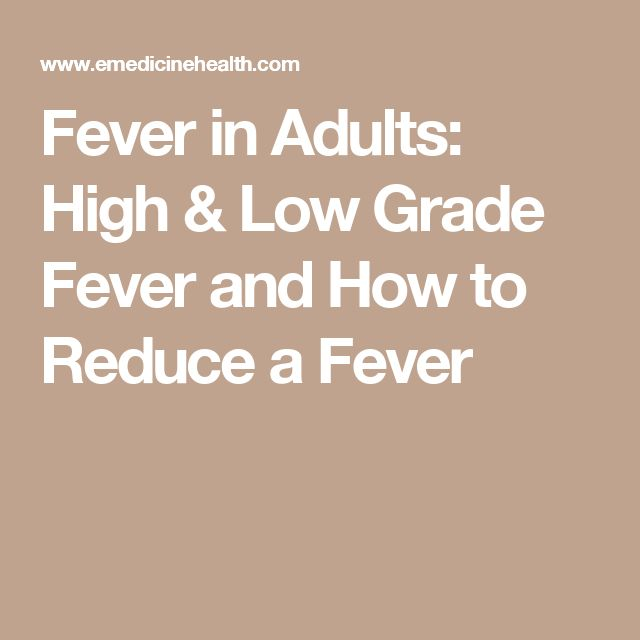 Long lasting low grade fever in adults have hit