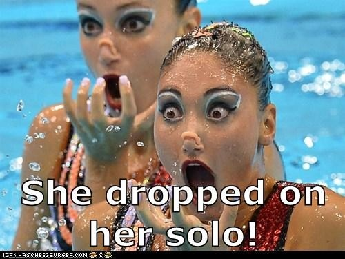 She dropped on her solo!
