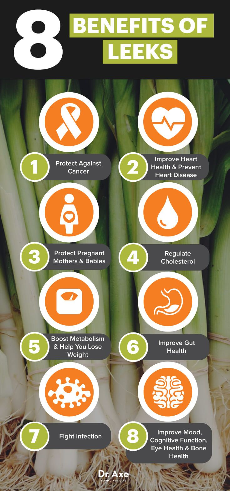 Leeks benefits - Dr. Axe http://www.draxe.com #health #holistic #natural