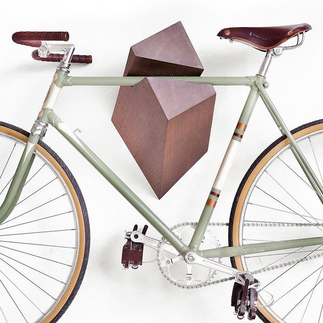 What makes the Oak Wood Bike Hanger by Woodstick unconventional is its design concept which is truly offbeat but overwhelming in nature.