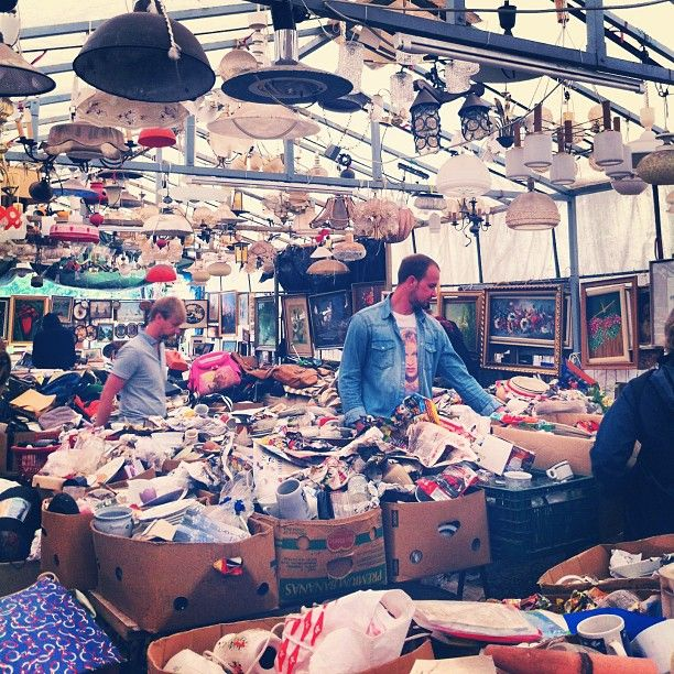 Amazing flea market at Mauerpark with food trucks and open live karaoke from 3 pm on. 10 min by tram M10