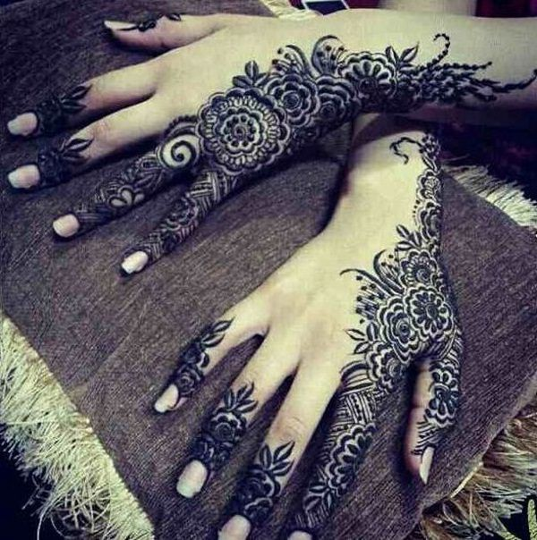 Arabic Mehandi Designs for Brides