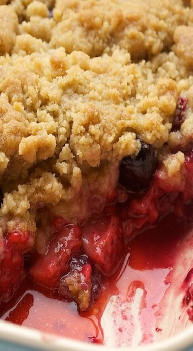 Made Christmas 2016...mixed berry cobbler. doubled the crust ingredients, added a bit of cornstarch to thicken filling. Added chopped up almond paste.  Fabulous!