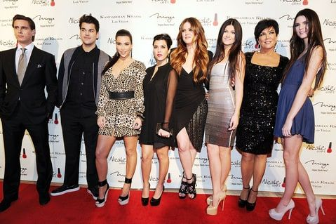 Scott Disick, Rob, Kim, Kourtney and Khloe Kardashian, Kylie, Kris Jenner and Kendell in Las Vegas in 2011.