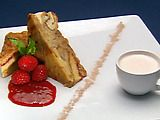 "Queen's Bread Pudding with Cold Fruit ""Soup"" Recipe by Chef Robert Irvine"