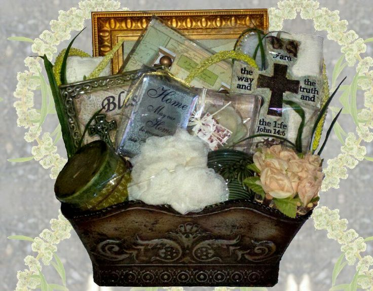 """Zotorius Creations Gift Baskets, LLC - """"Like"""" us on Facebook!  This keepsake basket include the following items: Antique Design Silver Planter; Two large premium white bath towels; Aromatherapy Capri candle design Asian Fruit scented; Large body pouf; Inspirational candle holder Belle Maison 2 fragrance room diffuser w/reed sticks  pear mint scented; Bath Body cleanser brush; Rose design candle; Small decorative candle holder; Decorative designed peach silk floral arrangement; Wall plaque…"""