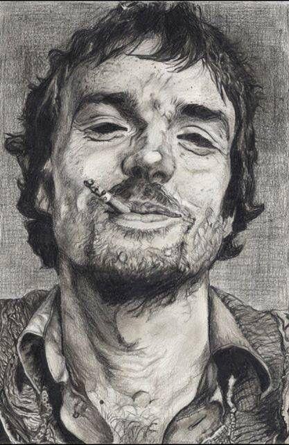 Portrait of Damien Rice (singer) by Martina Zanini