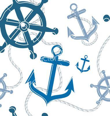 Nautical pattern vector on VectorStock&reg