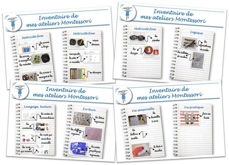 Teacher Charlotte: Inventaire de mes ateliers Montessori