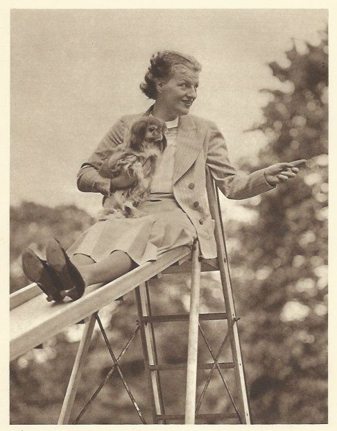 Gracie Fields and her Pekingese Dog 'Ming' by OLDBOOKSMAPSPRINTS