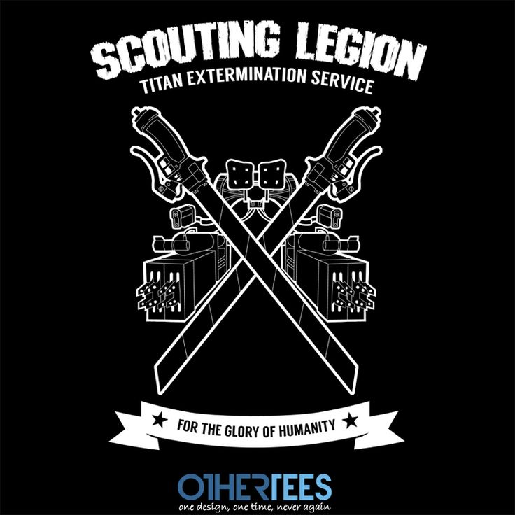 Titan Extermination Service by BleachedInk Shirt on sale until 11 March on http://othertees.com #attackontitan  Weekly FREE TEE winners are now up at http://www.othertees.com/othertees/win_free_tees/