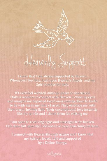 Affirmation - Heavenly Support
