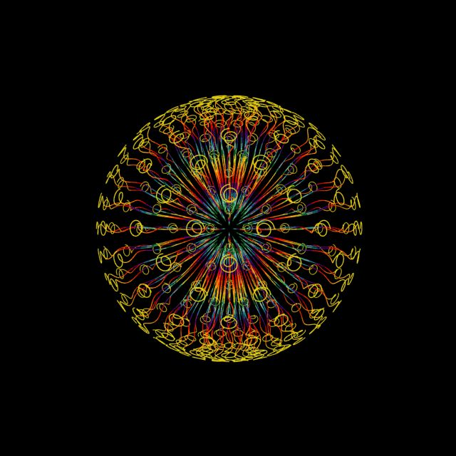 Look at the center of it and blink really fast